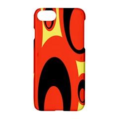 Circle Eye Black Red Yellow Apple Iphone 7 Hardshell Case by Alisyart