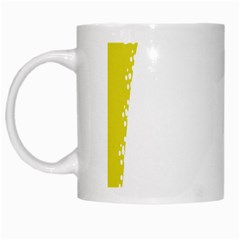 Fish Underwater Yellow White White Mugs by Simbadda