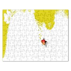 Fish Underwater Yellow White Rectangular Jigsaw Puzzl by Simbadda
