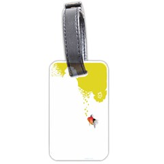 Fish Underwater Yellow White Luggage Tags (one Side)  by Simbadda