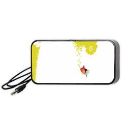 Fish Underwater Yellow White Portable Speaker (black) by Simbadda