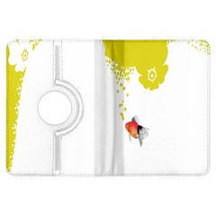 Fish Underwater Yellow White Kindle Fire Hdx Flip 360 Case by Simbadda