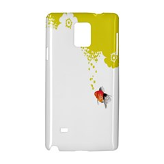 Fish Underwater Yellow White Samsung Galaxy Note 4 Hardshell Case by Simbadda