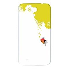 Fish Underwater Yellow White Samsung Galaxy Mega I9200 Hardshell Back Case by Simbadda