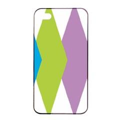 Chevron Wave Triangle Plaid Blue Green Purple Orange Rainbow Apple Iphone 4/4s Seamless Case (black) by Alisyart