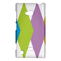 Chevron Wave Triangle Plaid Blue Green Purple Orange Rainbow Nokia Lumia 720 by Alisyart