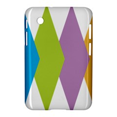 Chevron Wave Triangle Plaid Blue Green Purple Orange Rainbow Samsung Galaxy Tab 2 (7 ) P3100 Hardshell Case  by Alisyart