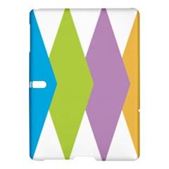 Chevron Wave Triangle Plaid Blue Green Purple Orange Rainbow Samsung Galaxy Tab S (10 5 ) Hardshell Case  by Alisyart