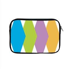 Chevron Wave Triangle Plaid Blue Green Purple Orange Rainbow Apple Macbook Pro 15  Zipper Case by Alisyart