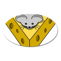 Cheese Mose Yellow Grey Oval Magnet by Alisyart
