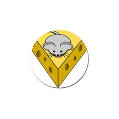 Cheese Mose Yellow Grey Golf Ball Marker by Alisyart