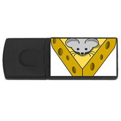 Cheese Mose Yellow Grey Usb Flash Drive Rectangular (4 Gb) by Alisyart