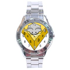Cheese Mose Yellow Grey Stainless Steel Analogue Watch by Alisyart
