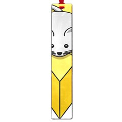 Cheese Mose Yellow Grey Large Book Marks by Alisyart