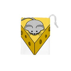 Cheese Mose Yellow Grey Drawstring Pouches (xs)  by Alisyart