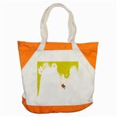 Fish Underwater Yellow White Accent Tote Bag by Simbadda