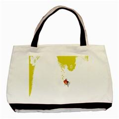 Fish Underwater Yellow White Basic Tote Bag (two Sides) by Simbadda