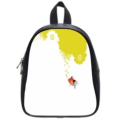 Fish Underwater Yellow White School Bags (small)  by Simbadda
