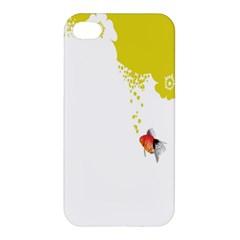 Fish Underwater Yellow White Apple Iphone 4/4s Hardshell Case by Simbadda