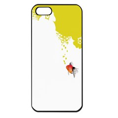 Fish Underwater Yellow White Apple Iphone 5 Seamless Case (black) by Simbadda