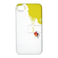 Fish Underwater Yellow White Apple Iphone 4/4s Hardshell Case With Stand by Simbadda