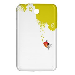Fish Underwater Yellow White Samsung Galaxy Tab 3 (7 ) P3200 Hardshell Case  by Simbadda
