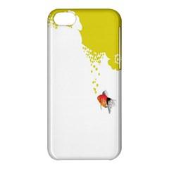 Fish Underwater Yellow White Apple Iphone 5c Hardshell Case by Simbadda