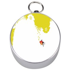 Fish Underwater Yellow White Silver Compasses by Simbadda