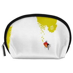 Fish Underwater Yellow White Accessory Pouches (large)  by Simbadda