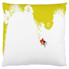Fish Underwater Yellow White Standard Flano Cushion Case (one Side) by Simbadda