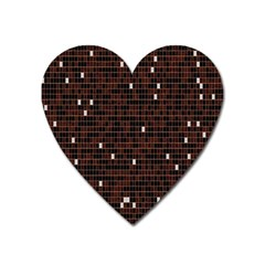 Cubes Small Background Heart Magnet by Simbadda