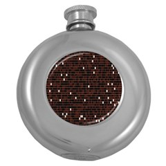 Cubes Small Background Round Hip Flask (5 Oz) by Simbadda