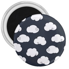 Cloud White Gray Sky 3  Magnets by Alisyart