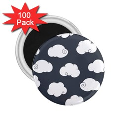 Cloud White Gray Sky 2 25  Magnets (100 Pack)  by Alisyart