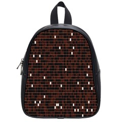 Cubes Small Background School Bags (small)  by Simbadda