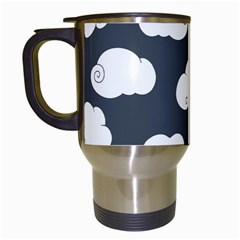 Cloud White Gray Sky Travel Mugs (white) by Alisyart