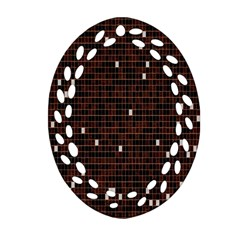 Cubes Small Background Oval Filigree Ornament (two Sides) by Simbadda