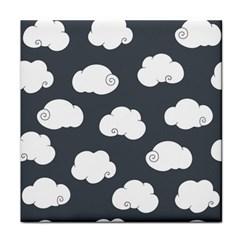 Cloud White Gray Sky Face Towel by Alisyart