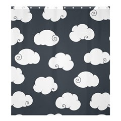 Cloud White Gray Sky Shower Curtain 66  X 72  (large)