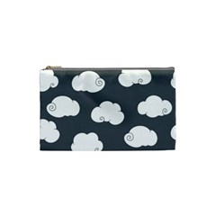 Cloud White Gray Sky Cosmetic Bag (small)  by Alisyart