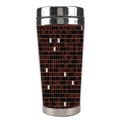 Cubes Small Background Stainless Steel Travel Tumblers by Simbadda