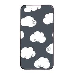 Cloud White Gray Sky Apple Iphone 4/4s Seamless Case (black) by Alisyart