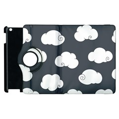 Cloud White Gray Sky Apple Ipad 2 Flip 360 Case by Alisyart