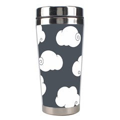 Cloud White Gray Sky Stainless Steel Travel Tumblers by Alisyart