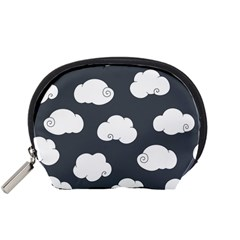 Cloud White Gray Sky Accessory Pouches (small)  by Alisyart