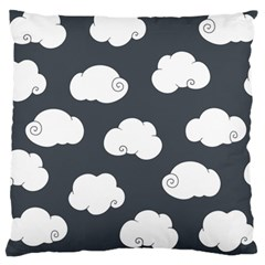 Cloud White Gray Sky Large Flano Cushion Case (one Side) by Alisyart