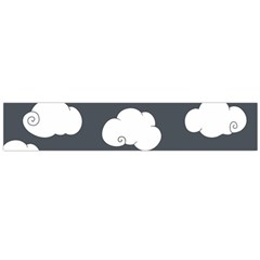 Cloud White Gray Sky Flano Scarf (large) by Alisyart
