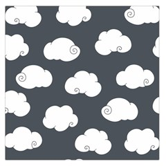 Cloud White Gray Sky Large Satin Scarf (square) by Alisyart