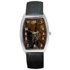 Coffe Break Cake Brown Sweet Original Barrel Style Metal Watch by Alisyart