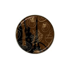 Coffe Break Cake Brown Sweet Original Hat Clip Ball Marker (4 Pack) by Alisyart